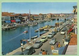 CPSM - PALAVAS LES FLOTS - Le Canal - Voitures Vintages : AMI 8, 2 CV, 404, ARONDE .... ANIMATIONS - - Passenger Cars