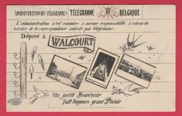 Walcourt - Déposé à  ... Télégramme - Carte Postale 3 Vues - 19?? ( Voir Verso ) - Walcourt