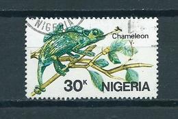 1986 Nigeria Kameleon,chameleon 30k. Used/gebruikt/oblitere - Nigeria (1961-...)
