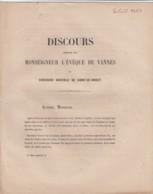 DISCOURS  EVEQUE  DE VANNES  - CONCOURS AGRICOLE DE  KORN ER HOUET - COLPO MORBIHAN 1862 - Documents Historiques