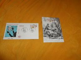 ENVELOPPE FDC + CARTE POSTALE 1ER JOUR DE 1998. / ABOLITION DE L'ESCLAVAGE 1848 - 1998. / CACHETS + TIMBRE - FDC