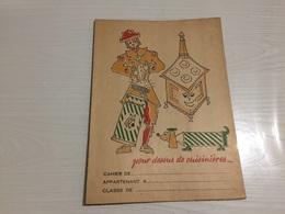 PROTÈGE CAHIER Ancien ZEBRASIF CUISINIÈRE - Protège-cahiers