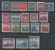 Drittes Reich , Böhmen Und Mähren , Nr 1-19 , Ungebraucht Mit Falz - Besetzungen 1938-45