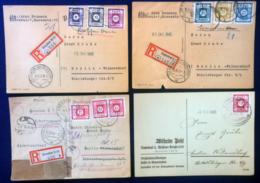 Germania Zona Sovietica Dresda 1945 4 Postal Card VF - Zone Soviétique