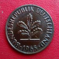 Monnaie, République Fédérale Allemande, 2 Pfennig, 1965, Stuttgart  (B6-14) - [ 7] 1949-… : FRG - Fed. Rep. Germany
