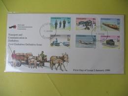Lettre  Zimbabwe  1990   -  Transport And Communication In Zimbabwe - Zimbabwe (1980-...)
