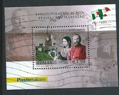 Italia 2011; Anita E Giuseppe Garibaldi: Congiunta Italia-San Marino - 6. 1946-.. Repubblica