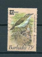 1987 Barbados Birds,oiseaux,vögel 75 Cent,Capex Used/gebruikt/oblitere - Barbados (1966-...)