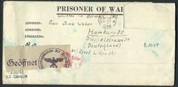 1944 USA Prisoner Of War Censor Cover - Hamburg Germany. POW Camp Carson Kriegsgefangen. Chemical Swipe - Vereinigte Staaten