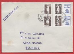 0,70 MARIANNE De BRIAT X 4 + VIGNETTES Sur ENVELOPPE Pour La BELGIQUE - 1994 - - Postal Rates