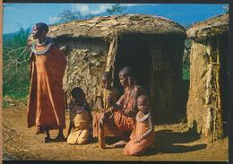 °°° 13138 - KENYA - MASAI WOMEN AND CHILDREN - 1984 With Stamps °°° - Kenia