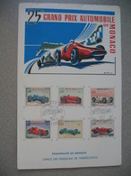 Monaco 1967 - Document Office Des émissions De Timbres-Poste  -  25 ème Grand Prix Automobile De Monaco - Monaco