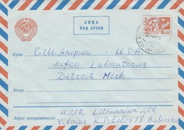 GOOD LITHUANIA Postal Cover To USA 1968 - Lithuania