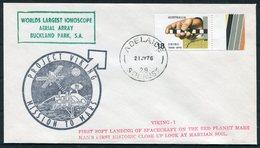 1976 Australia Adelaide Project Viking Space Rocket Mars Cover. Bucklnd Park Ionoscope - 1966-79 Elizabeth II