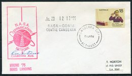 1976 Australia Canberra Project Viking Space Rocket Mars NASA Signed Cover. - 1966-79 Elizabeth II