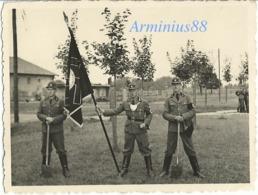 """NSDAP - RAD - Reichsarbeitsdienst - RAD-Abt 6/173 """"Ditmar Koel"""" - Bornberg (Hechthausen) - RAD Ringkragen - Fahnenträger - Krieg, Militär"""