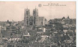 Brussel - Bruxelles - Panorama Vue Sur L'Eglise Ste-Gudule - 56 Albert - Phototypie - Panoramische Zichten, Meerdere Zichten