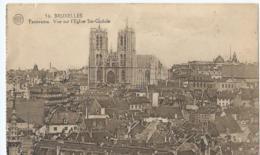 Brussel - Bruxelles - Panorama - Vue Sur L'Eglise Ste-Gudule - 56 Albert - Phototypie - 1926 - Panoramische Zichten, Meerdere Zichten