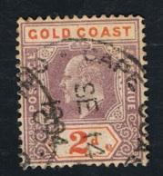 1802 King Edward VII Gold Coast Mi GB-GC 36 Sn GB-GC 40 Yt GB-GC 40  Gut Gestempelt O - Bahamas (...-1973)