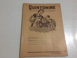 PROTÈGE CAHIER Ancien VIN DE TABLE QUINTONINE - Protège-cahiers