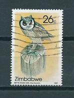 1987 Zimbabwe Uil,owl,eule 26 Cent Used/gebruikt/oblitere - Zimbabwe (1980-...)