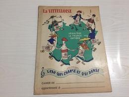 PROTÈGE CAHIER Ancien LA VITTELLOISE VITTEL AVEC BUVARD D'ORIGINE - Protège-cahiers
