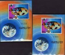 Raumfahrt 1976 Korea Blocks 28A+B ** 8€ UPU Weltpost Sport Stadion Fußball Apollo Space Sheets Bf Olympic Montreal - Corée Du Nord