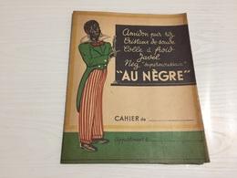 PROTÈGE CAHIER Ancien AMIDON RIZ COLLE JAVEL AU NEGRE - Protège-cahiers
