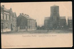 COURCELLES MOTTE   EGLISE ET PLACE DU ROSAIRE - Courcelles