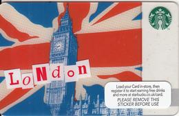 UK - London, Starbucks Card, CN : 6126, Unused - Cartes Cadeaux