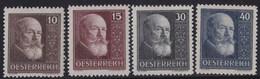 Osterreich    .   Yvert    .    374/377      .       **       .      Postfrisch   .    /    .     MNH - 1918-1945 1. Republik