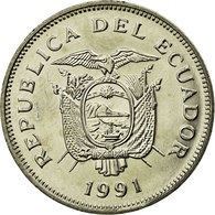 Monnaie, Équateur, 20 Sucres, 1991, TTB, Nickel Clad Steel, KM:94.2 - Equateur