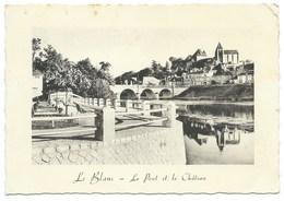 CARTE POSTALE / LE BLANC LE PONT ET LE CHATEAU / 1949 - Le Blanc