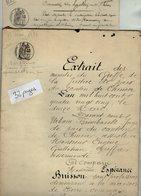 VP14.371 - Tribunal De CHINON - 2 Actes De 1885 Concernant Mr E. BARRIER  à BEAUMONT - EN - VERON - Manuscripts