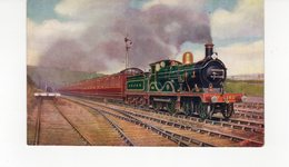 LES LOCOMOTIVES  (Royaume-Uni) S.E.&C. RAILWAY FOLKESTONE BOULOGNE BOAT TRAIN LEAVING FOLKESTONE. - Trains