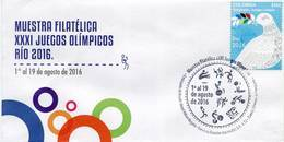Lote 2016-MP4, Colombia, 2016, Marca Postal, SPD-FDC Rio 2016, Bicycle, Cycling, Athletics, Olympic Games - Colombia