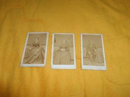 LOT DE 3 PHOTOS ANCIENNES DE 1874. / FELIX GIROD PHOTOGRAPHE. / PORTRAIT ANOTATION LA FERTE FRESNEL.. - Anciennes (Av. 1900)
