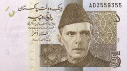 Pakistan 5 Rupees, P-53a (2008) - UNC - AD3559355 - Pakistan