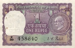 India 1 Rupee, P-66 - UNC - Ghandi Commemorative Banknote - Indien