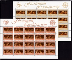 1985 Liechtenstein EUROPA CEPT EUROPE 20 Serie Di 2v. MNH** Minifogli 2 Minisheets - Europa-CEPT