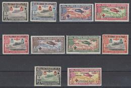 España 0363/372 ** Cruz Roja. 1927. Sobrecargados - Nuevos