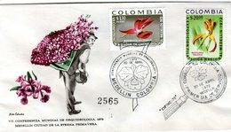 FDC,    COLOMBIA, Orchid    /  Lettre De Première Jour,   La COLOMBIE, Orchidée   1972 - Orchidées