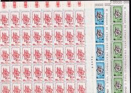 1964 Italia Italy Repubblica STATI GENERALI 50 Serie Di 3v. In Foglio MNH** Sheet - Fogli Completi