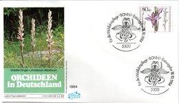 FDC,    GERMANY,    Orchid    /  Lettre De Première Jour,  ALLEMAGNE, Orchidée   1984 - Orchidées