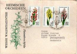 FDC,    DDR, GDR;    Orchid    /  Lettre De Première Jour,  ALLEMAGNE ORIENTALE, RDF, Orchidée   1976 - Orchidées
