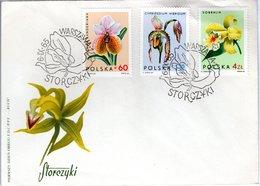 FDC,    POLAND,    Orchid    /  Lettre De Première Jour,  POLOGNE, Orchidée  1965 - Orchidées