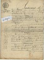 VP14.373 - SAINT - LOUP  -  Acte De 1890 - Entre La Vve GACHET à LOUZY & GUILLEBEAULT Vente De Terre Situé à AUBIGNY - Manuscripts