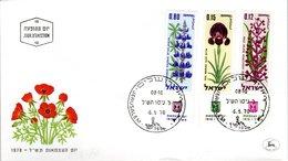 FDC,    ISRAEL,    Orchid    /  Lettre De Première Jour,  Orchidée  1970 - Orchidées
