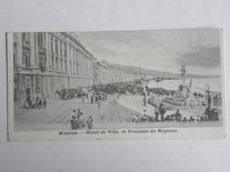 CPA ITALIE - Messine - Hôtel De Ville Et Fontaine De Neptune - Carte Petit Format - Messina