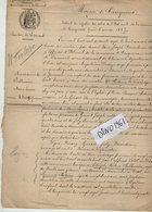 VP14.374 - Mairie De CINQUEUX 1914 - Généalogie - Extrait Acte De Naissance De Marie Léonie BELLEMERE - Manuscripts